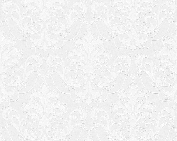 Wallpaper paintable ornament white Pigment 9618-15