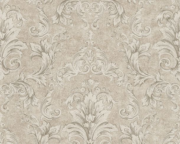 Wallpaper Versace ornament silver beige 96215-3