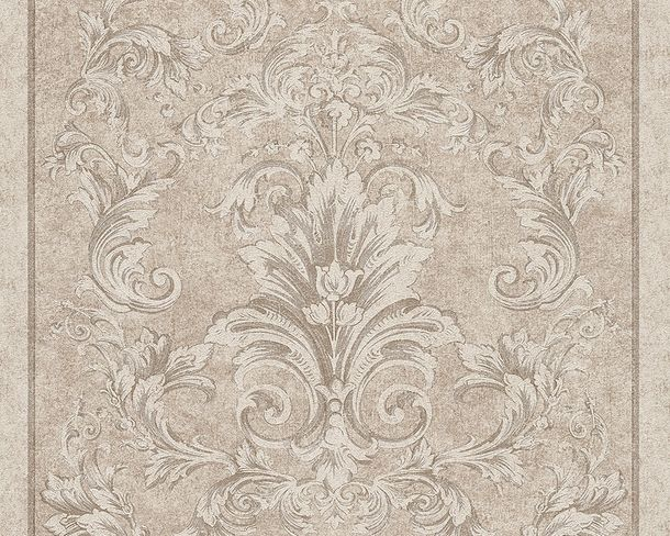 Wallpaper Versace ornament silver grey 96216-3