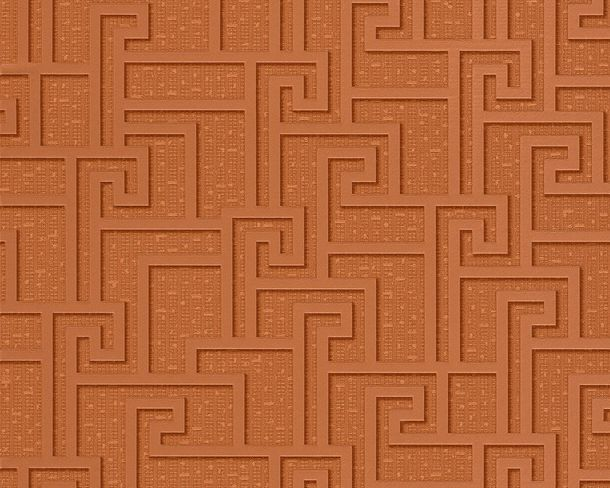 Wallpaper Versace graphic copper 96236-2