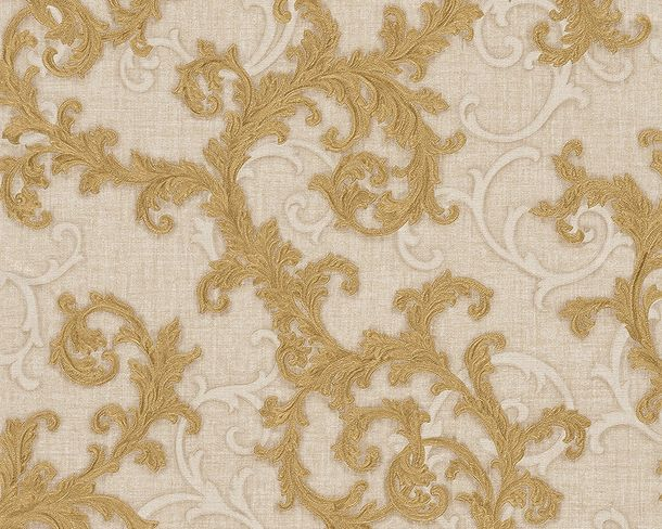 Wallpaper Versace ornament cream gold 96231-3