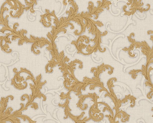 Vliestapete Barock gold cremeweiß AS Creation Versace 96231-4