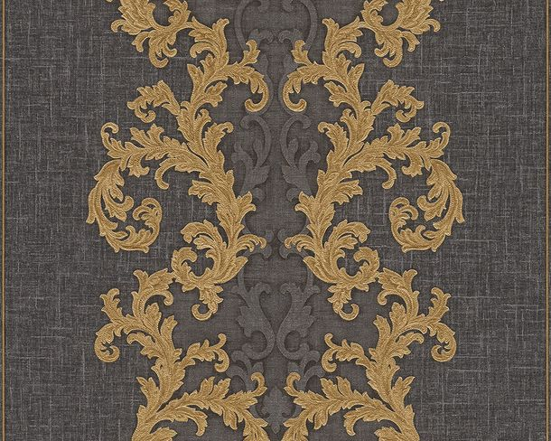 Wallpaper Versace ornament gold anthracite 96232-6