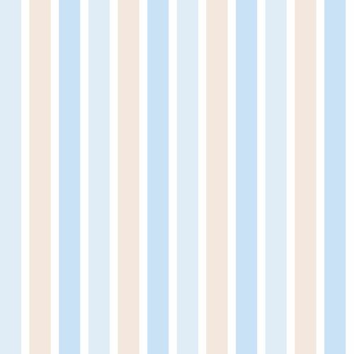 wallpaper non-woven stripes beige blue white Everybody Bonjour 238702