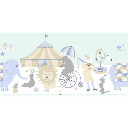 Kinder-Vliesborte Zirkus blau beige creme 178701 online kaufen