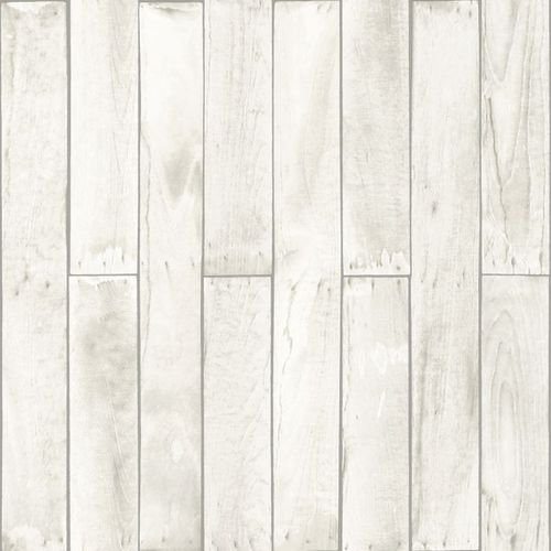 wallpaper non-woven wood grey white 137742