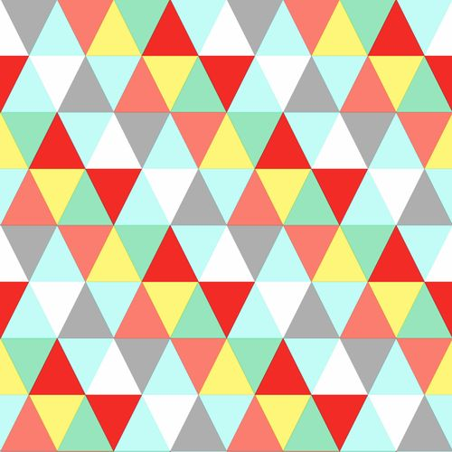 wallpaper non-woven triangle blue green yellow 138715
