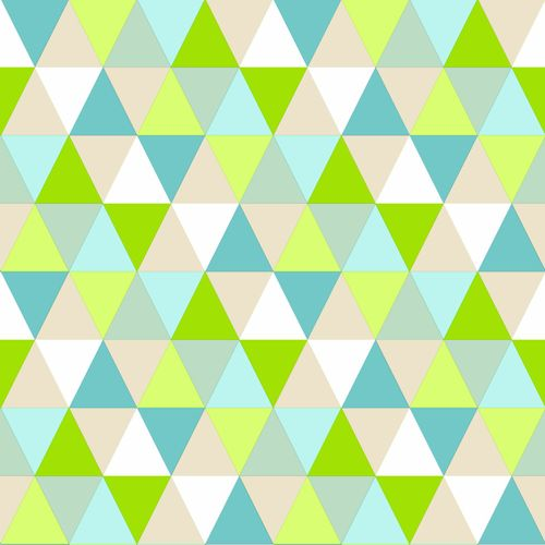 wallpaper non-woven triangle green blue beige Everybody Bonjour 138713