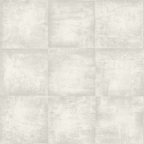 138202 Non-Woven Wallpaper squared structure beige grey