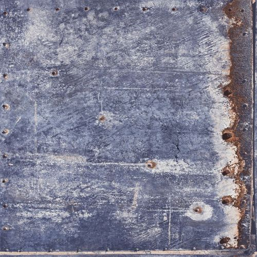 138219 Non-Woven Wallpaper metal blue brown Vintage Rules!