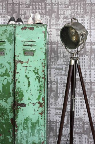 138226 Non-Woven Wallpaper city grey Vintage Rules! online kaufen