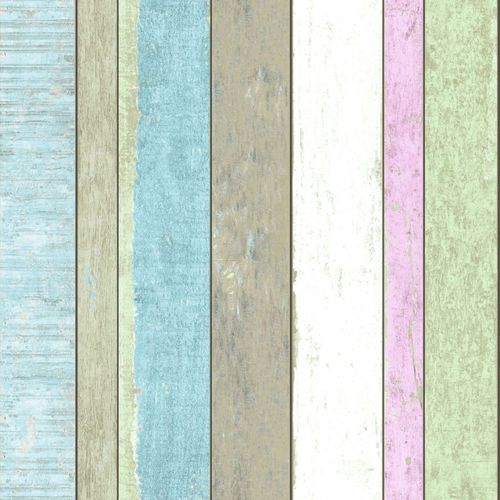 138249 Non-Woven Wallpaper wood green blue brown