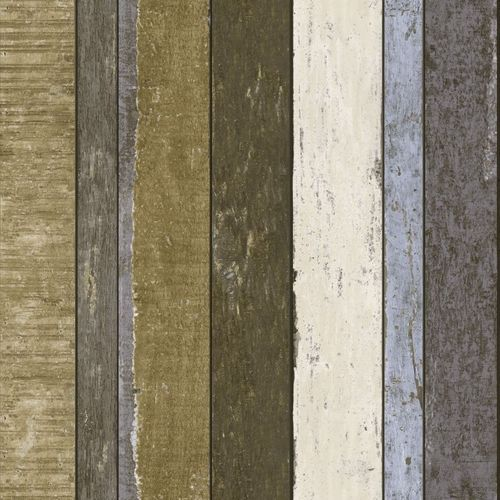 138253 Non-Woven Wallpaper wood brown white blue Vintage Rules! online kaufen
