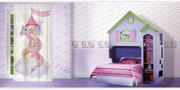Non-Woven Wallpaper kids purple white Bim Bum Bam 002209 online kaufen