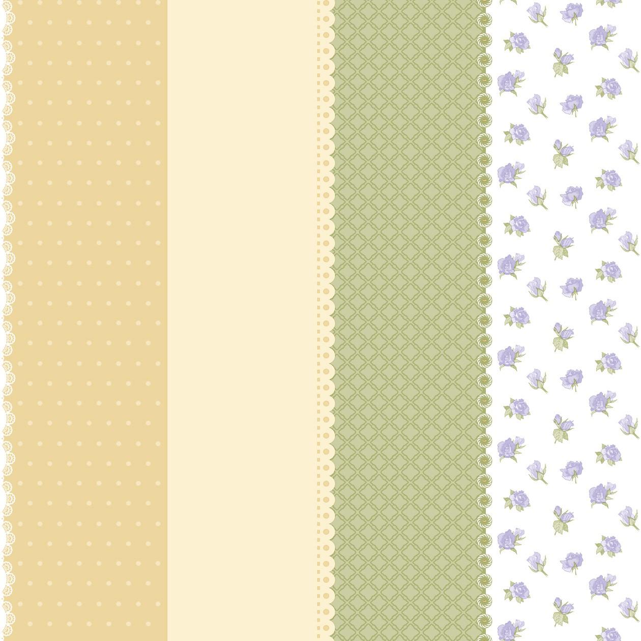 Vliestapete Punkte Kariert Blumen gelb beige grün Bim Bum Bam 002227