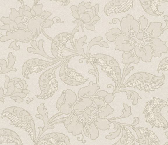 Non-Woven Wallpaper baroque metallic cream beige gold Amira 225944 online kaufen
