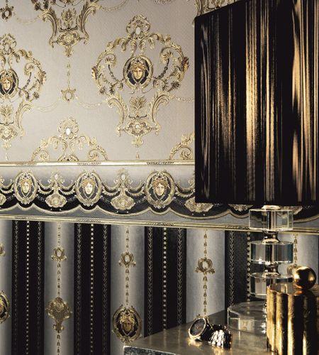 Satin Wallpaper Medusa Stripes Glossy black 6552-71 online kaufen