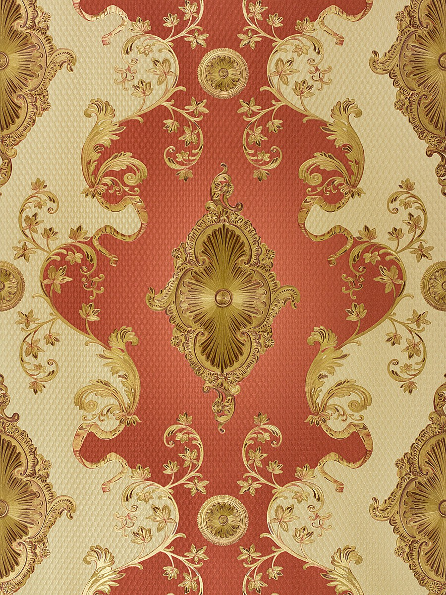 Satin wallpaper baroque ornament classic wallpaper glossy for Ornament tapete