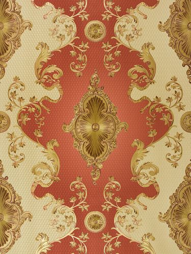 Satin Wallpaper Baroque Classic red gold 6829-18 online kaufen