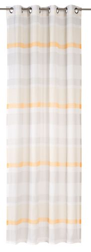 Eyelet curtain Sweet Love Stripe semi-transparent stripes orange 194758