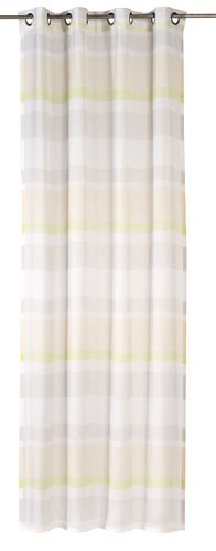 Eyelet curtain Sweet Love Stripe semi-transparent stripes green 194697 online kaufen