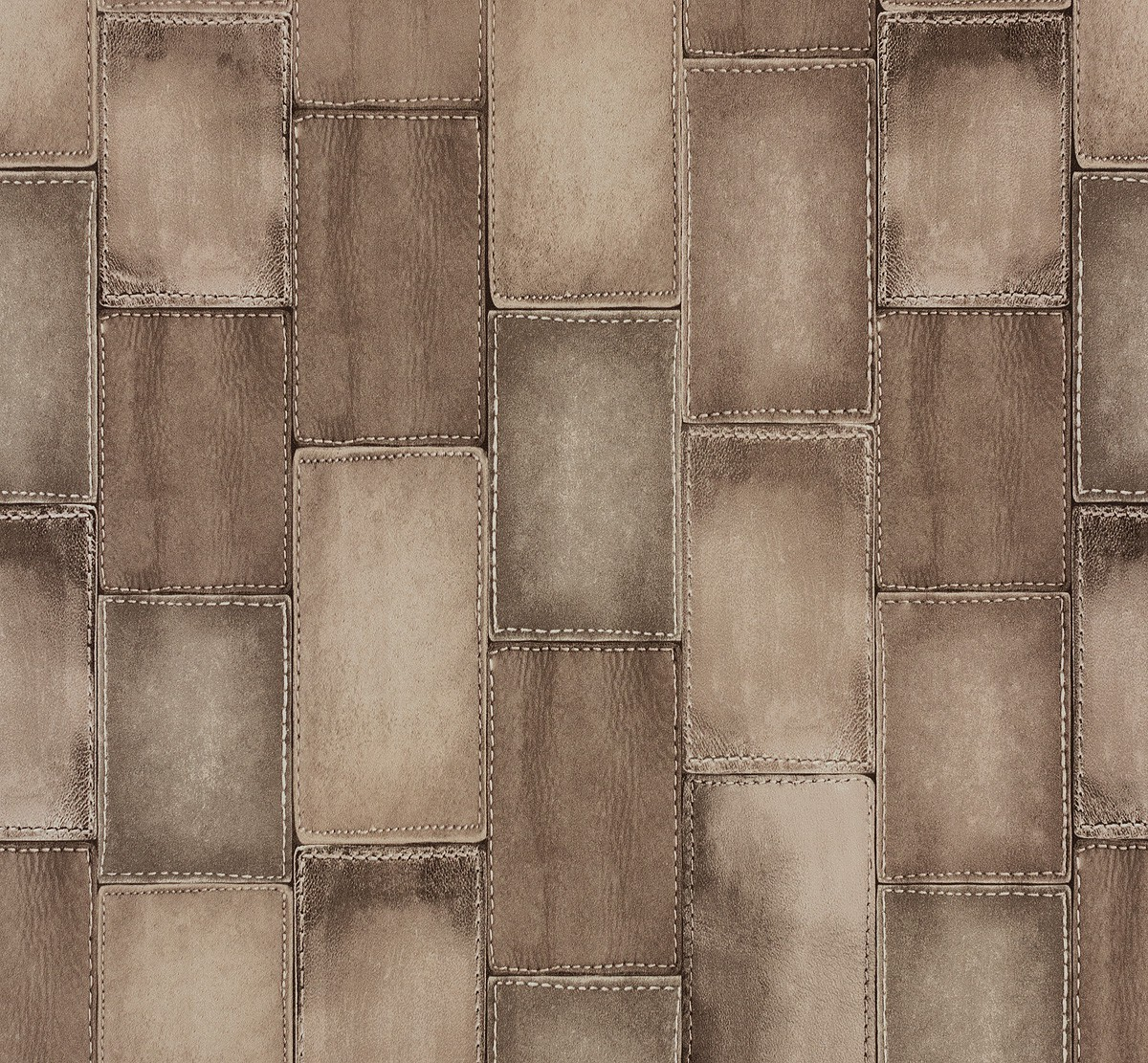 Non-woven wallpaper leather optic beige Rasch Wild 475821