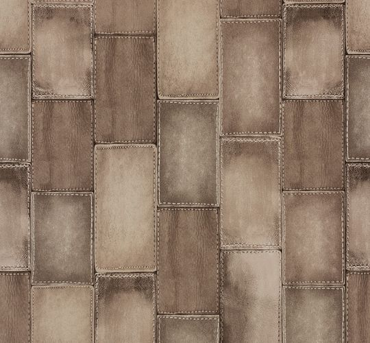 Non-woven wallpaper leather optic beige Rasch Wild 475821 online kaufen
