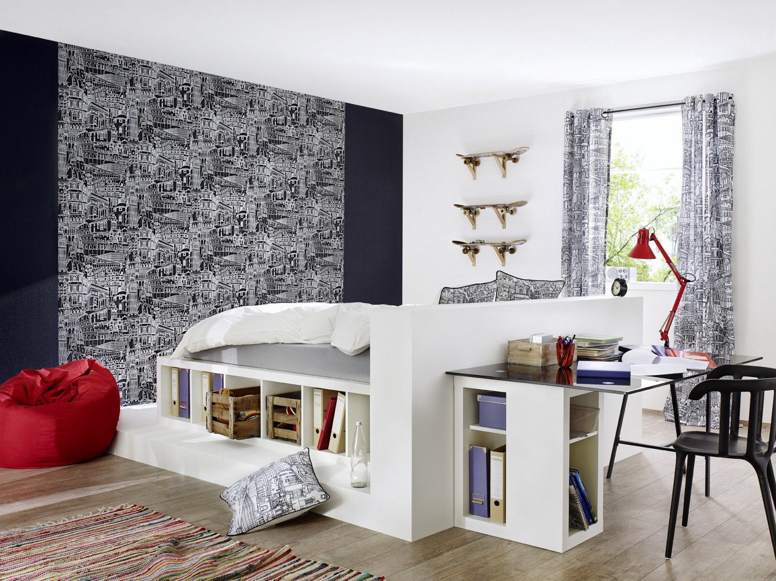 senschal blickdicht sightseeing kid 39 s club st dte schwarz. Black Bedroom Furniture Sets. Home Design Ideas
