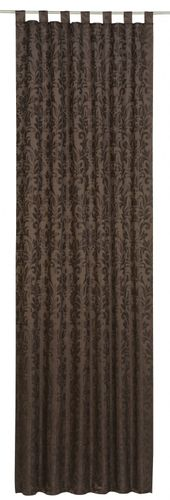 Loop curtain Relax Touch Floral brown non-transparent 194963