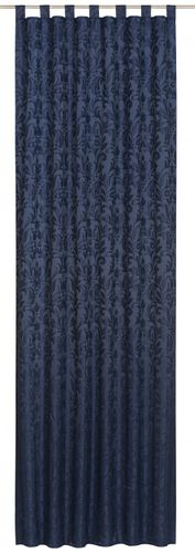 Loop curtain Relax Touch Floral blue non-transparent 194956 online kaufen