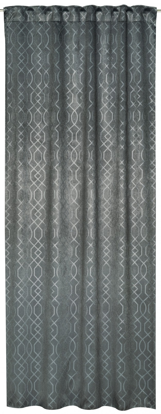 loop curtain equinox design grey blackout fabric 196196. Black Bedroom Furniture Sets. Home Design Ideas
