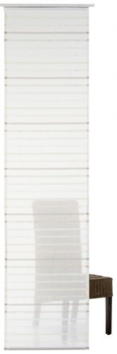 Panel-curtain My Way 60x245 cm stripes beige semi-transparent 196257 online kaufen