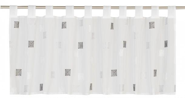 Bistrogardine Kariert Quadro transparent grau 180041 online kaufen