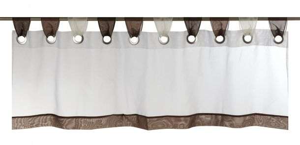 Half-curtain stripes Laola transparent brown 180362 online kaufen