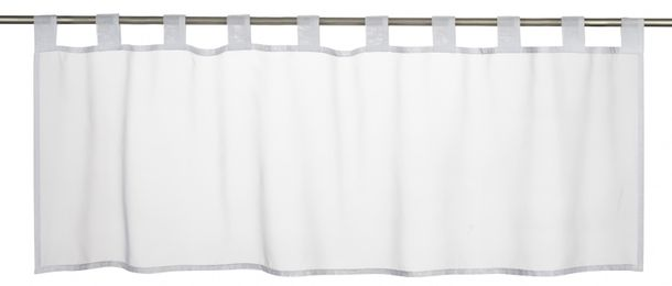 Half-curtain uni Basic transparent white 196073 online kaufen