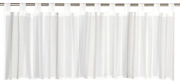 Half-curtain stripes My Way semi-transparent beige 196547 online kaufen