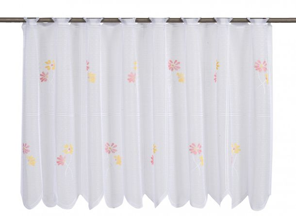 Half-curtain Cafehausgardine semi-transparent colorful 503998 online kaufen