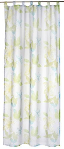 Loop curtain Flower Poetry 140x255 cm flower green transparent 196134 online kaufen
