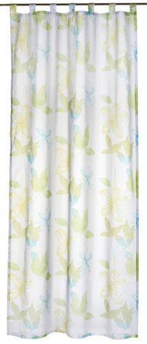 Loop curtain Flower Poetry 140x255 cm flower green transparent 196134