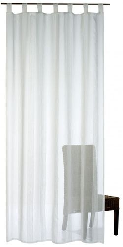 Loop curtain Lana 140 x 255 cm uni white semi-transparent 196394 online kaufen