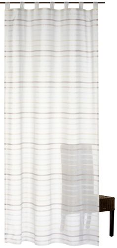 Loop curtain My Way 140 x 255 cm stripes beige semi-transparent 196448 online kaufen