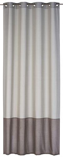Eyelet curtain Dualino 140 x 255 cm stripes beige non-transparent 196462 online kaufen