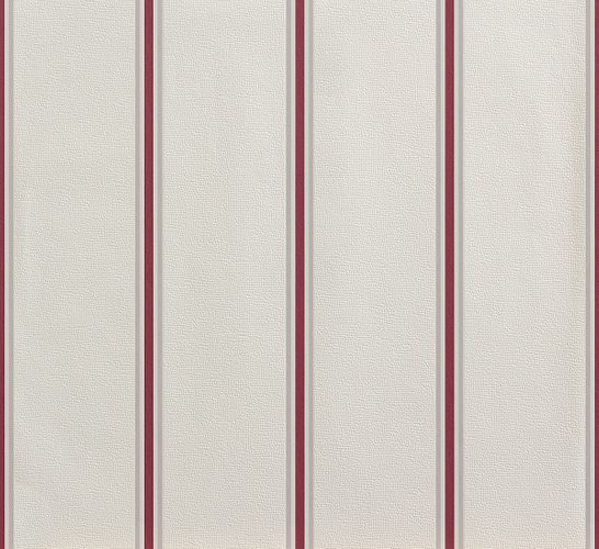 Wallpaper red cream white stripes Rasch 858938 online kaufen