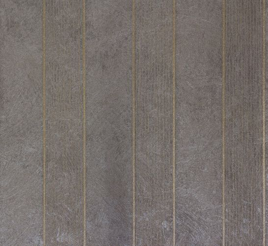 Non-woven wallpaper grey gold stripes Marburg 56828 online kaufen