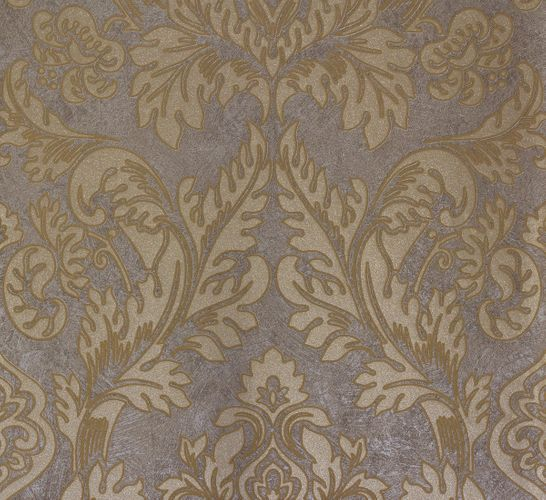 Non-woven wallpaper grey gold baroque Marburg 56804