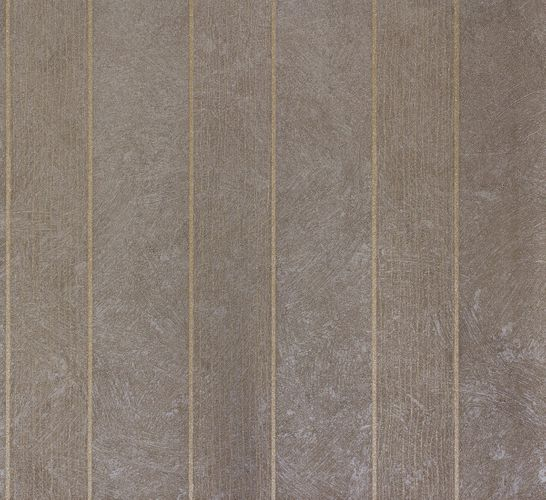 Non-Woven Wallpaper Plaster Stripes taupe Metallic 56831
