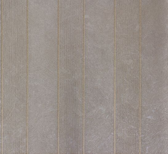Non-woven wallpaper grey gold stripes Marburg 56849