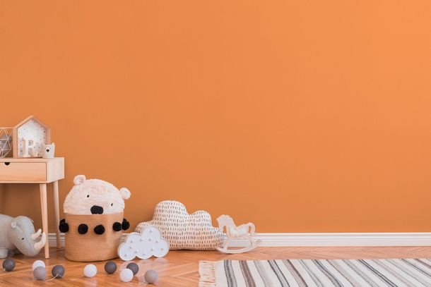 Kids Wallpaper Plain Design orange 3095-87 online kaufen