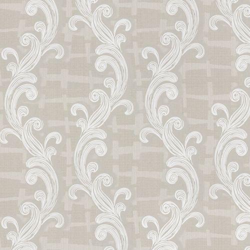 Non-woven wallpaper grey beige oranment Marburg 56101