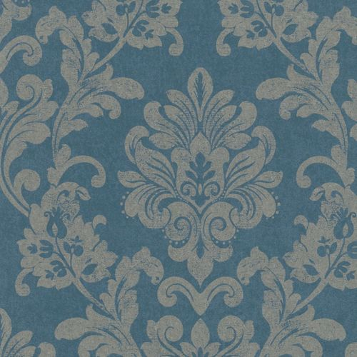 Non-woven wallpaper blue silver ornament Marburg 56154 online kaufen